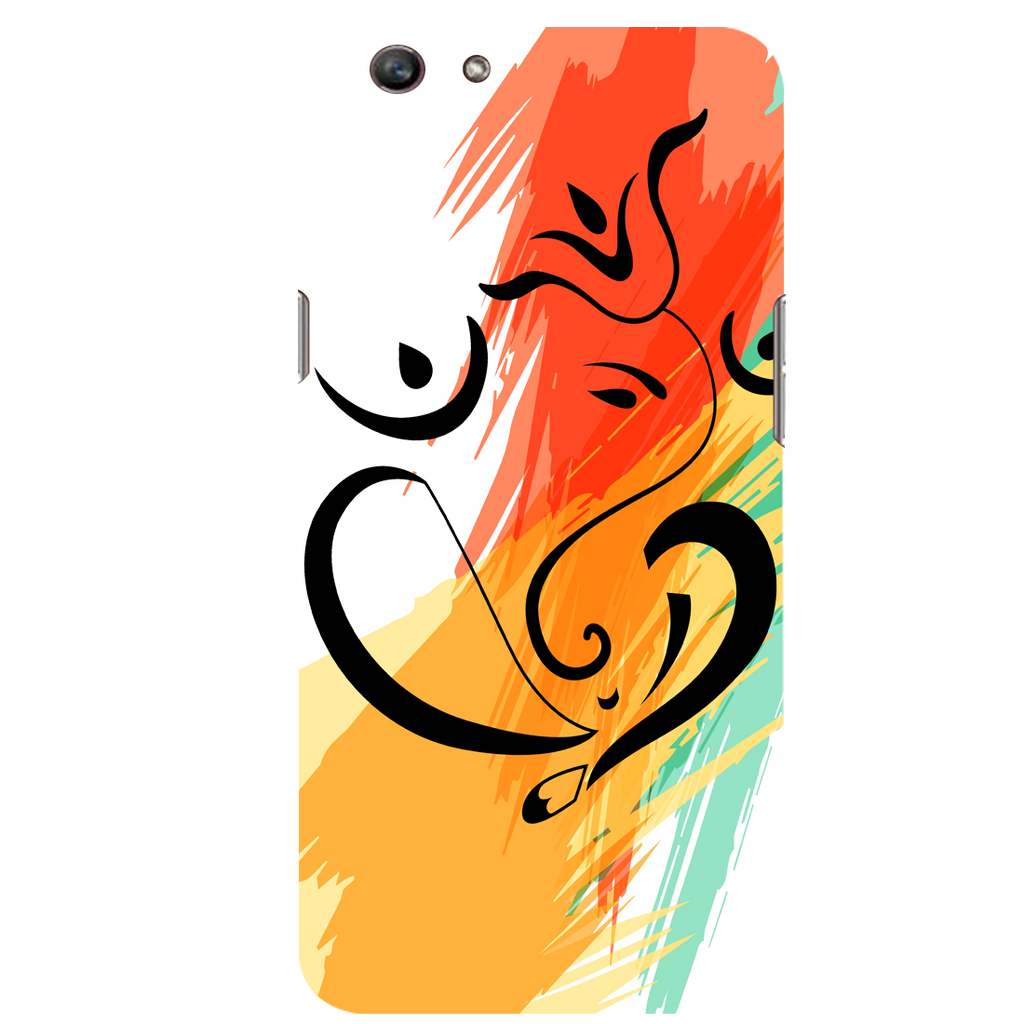 Colored ganesh ji Oppo F1s Mobile Cover