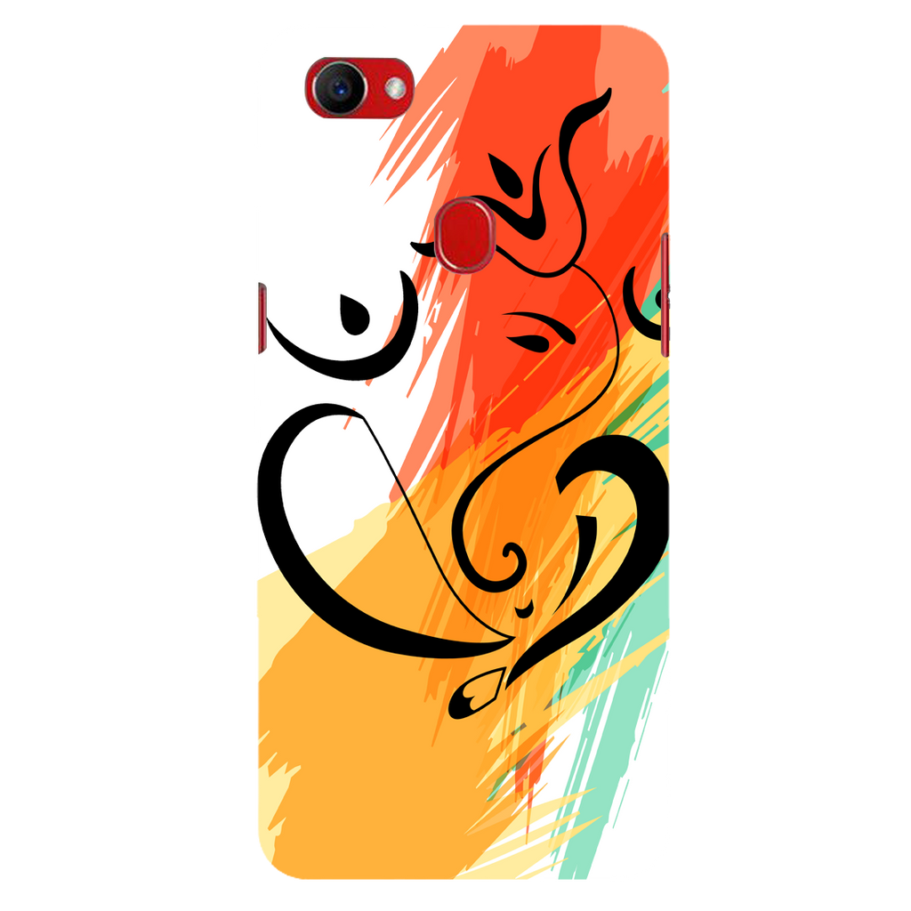 Colored ganesh ji Oppo F7 Mobile Cover