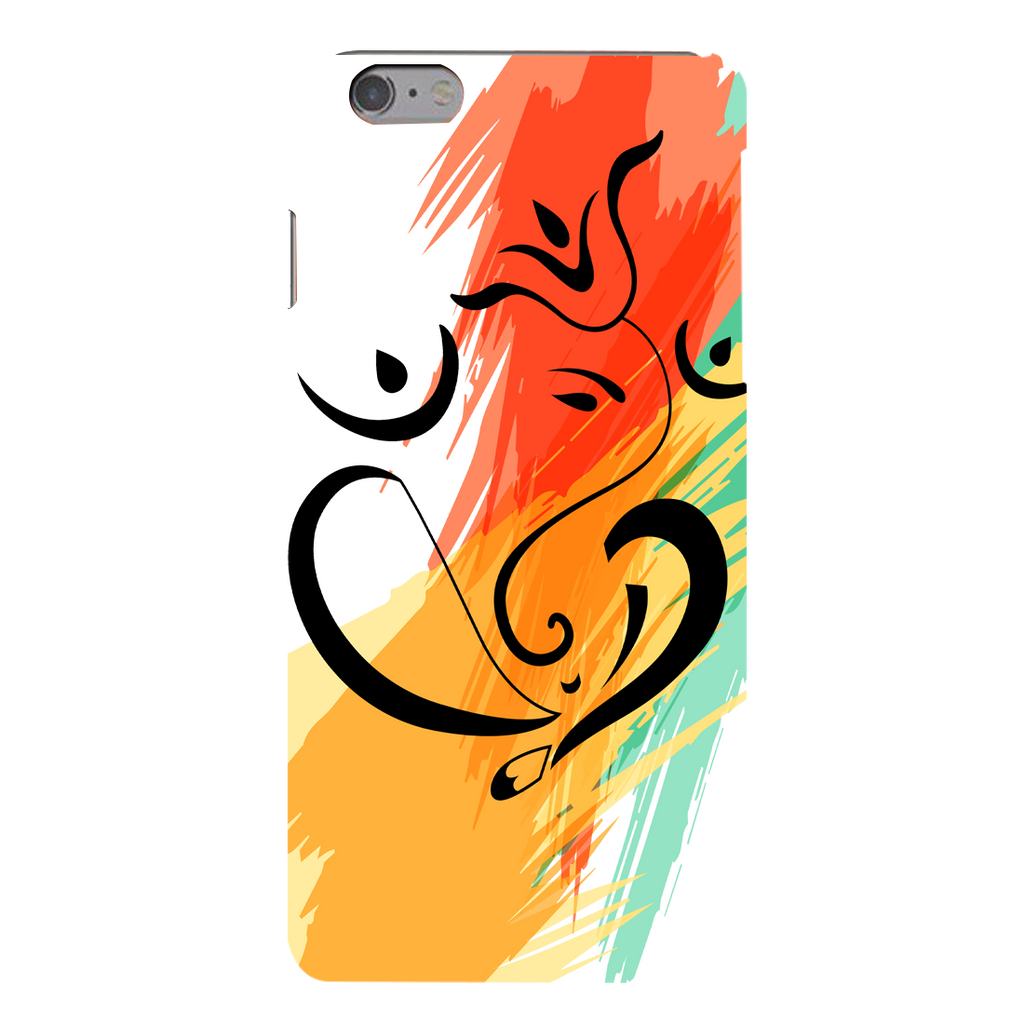 Colored Ganesh Ji Apple iPhone 6s Plus Mobile Cover