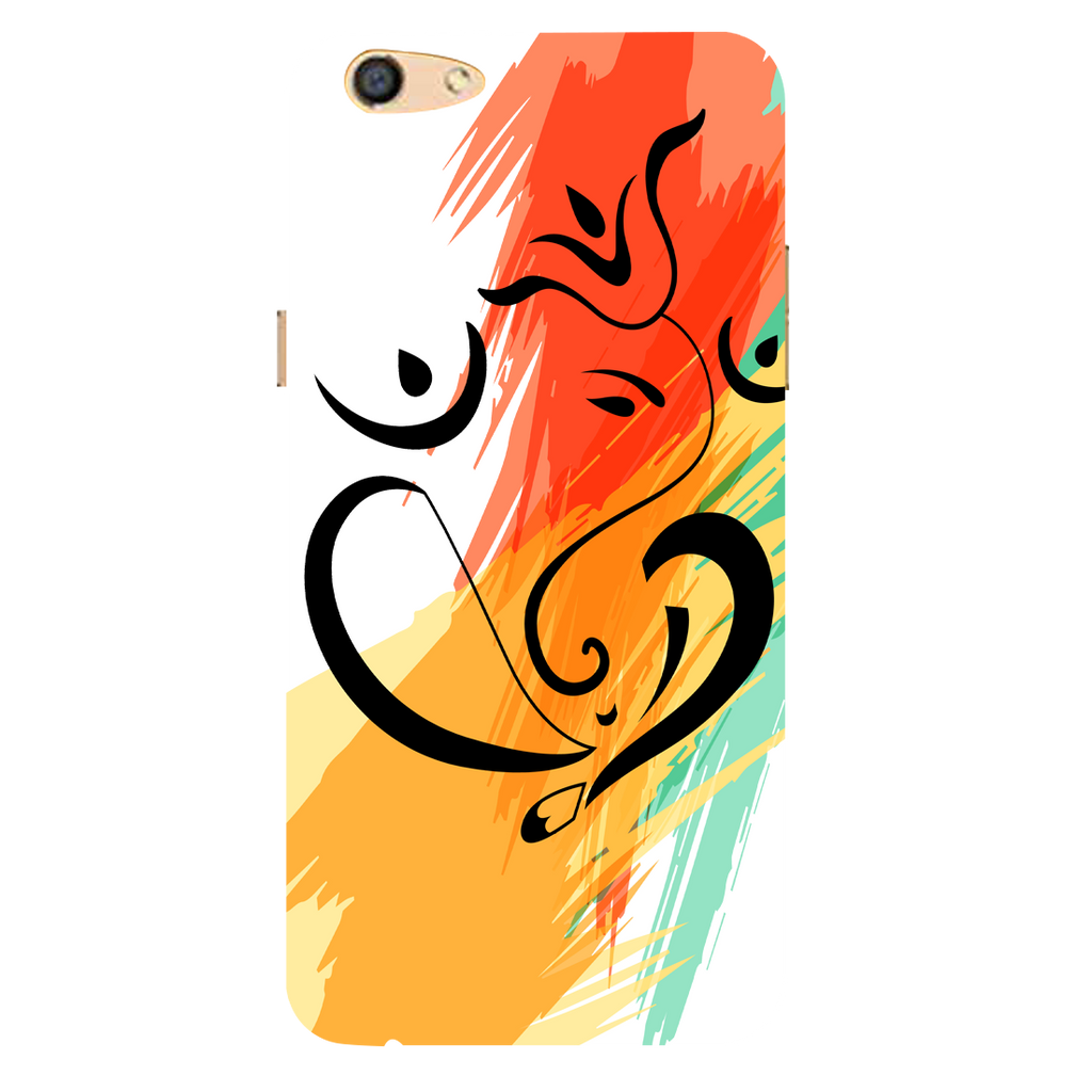 Colored ganesh jii Oppo F3 Mobile Cover