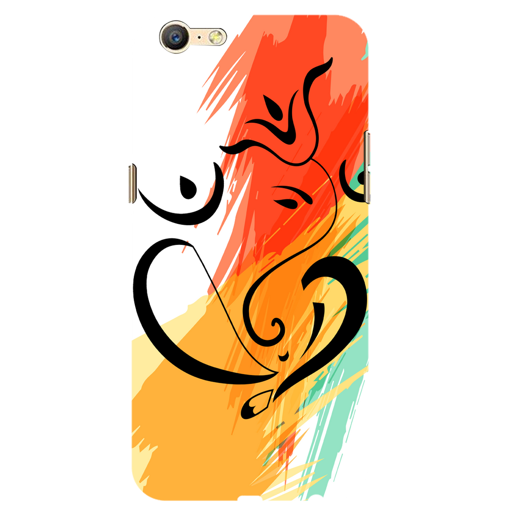 Colored ganesh ji Oppo A71 Mobile Cover