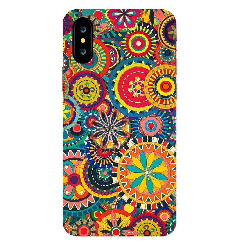 Colored pattern Apple iPhone X Mobile Cover