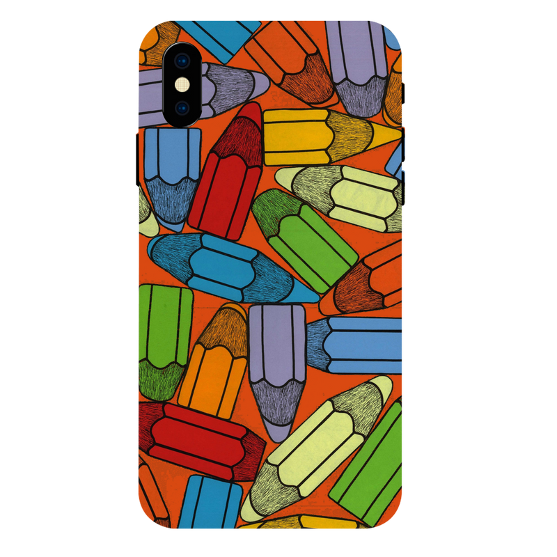 Colored pencil Apple iPhone XS Max Mobile Cover