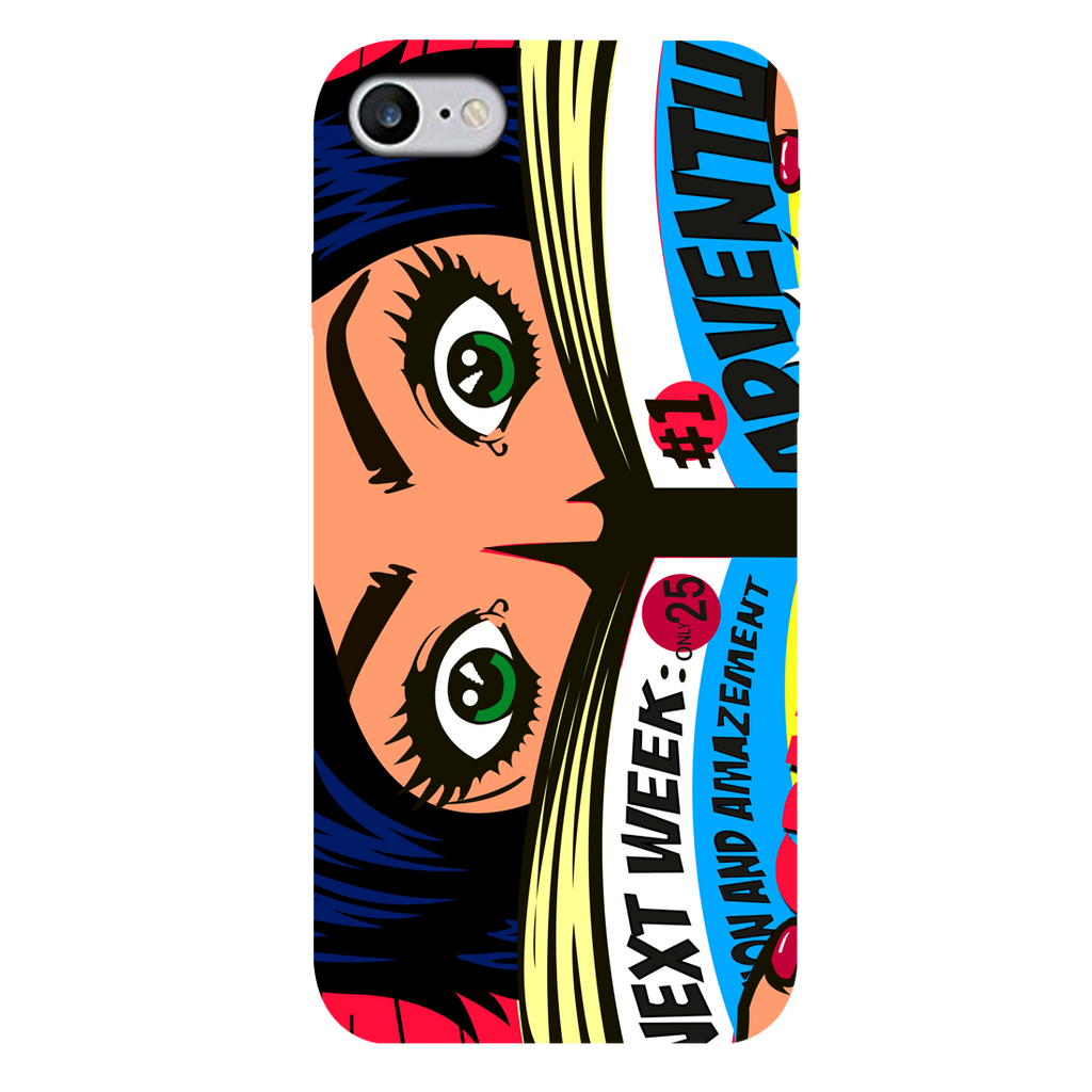 Comic girl Apple iPhone 7 Mobile Cover