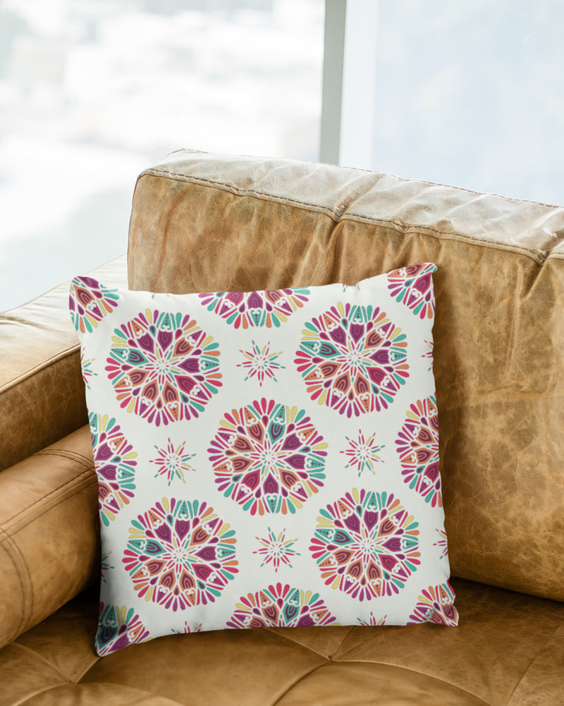 Colored Circles Cushion Cover