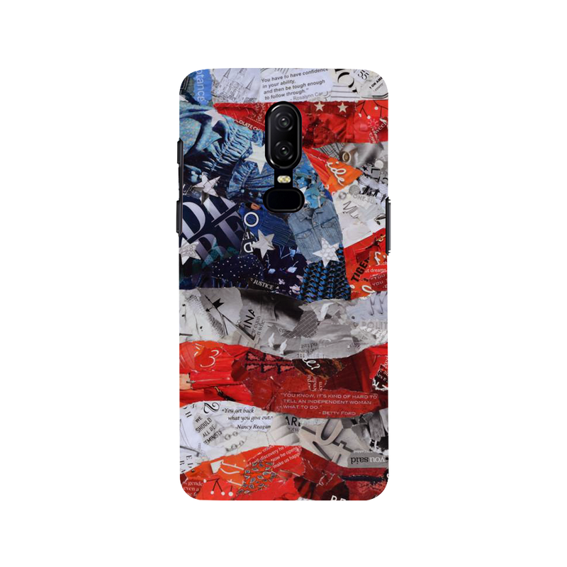 Flag OnePlus 6 Mobile Cover