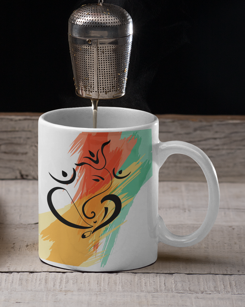 Ganesh ji with colored background Coffee Mug