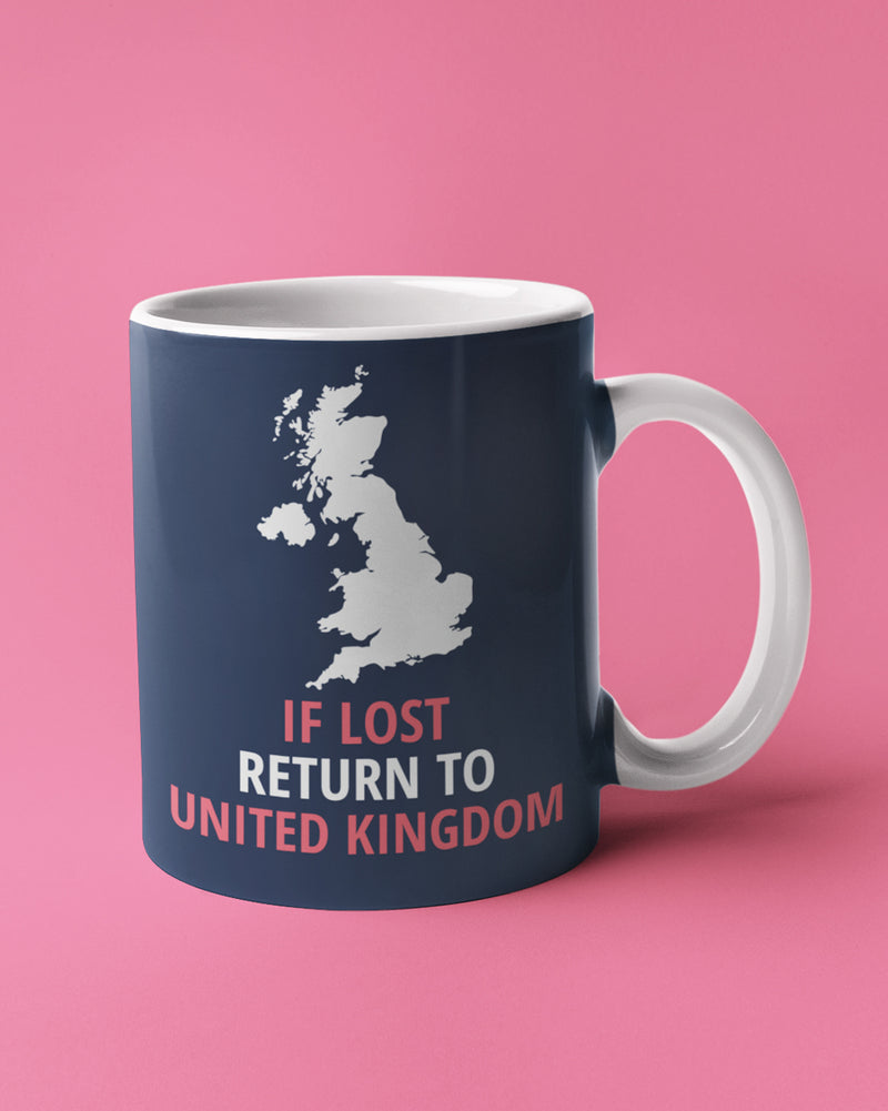 If lost return to uk