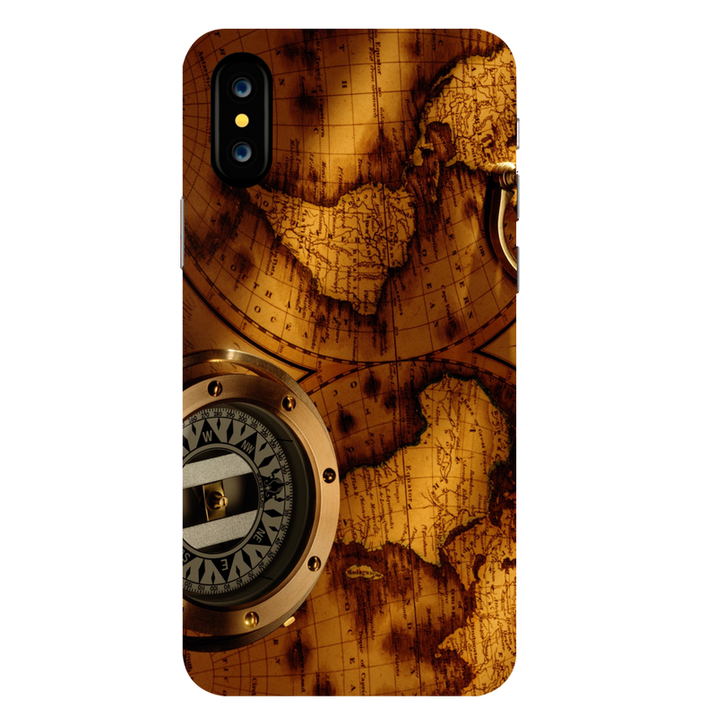 Map Apple iPhone X Mobile Cover