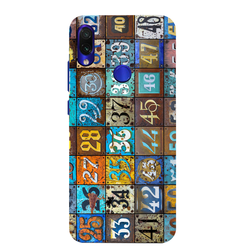 Numbers Redmi Note 7 Mobile Cover