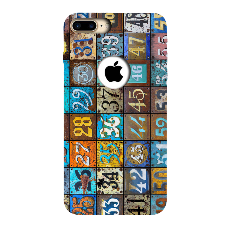 Numbers Apple iPhone 7 Plus Mobile Cover