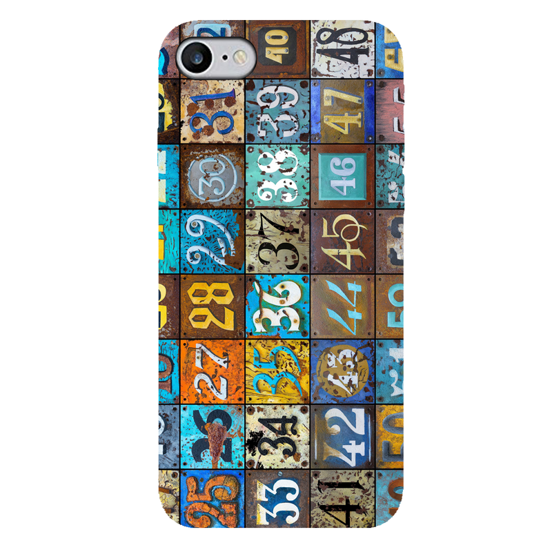 Numbers iPhone 7 Mobile Cover