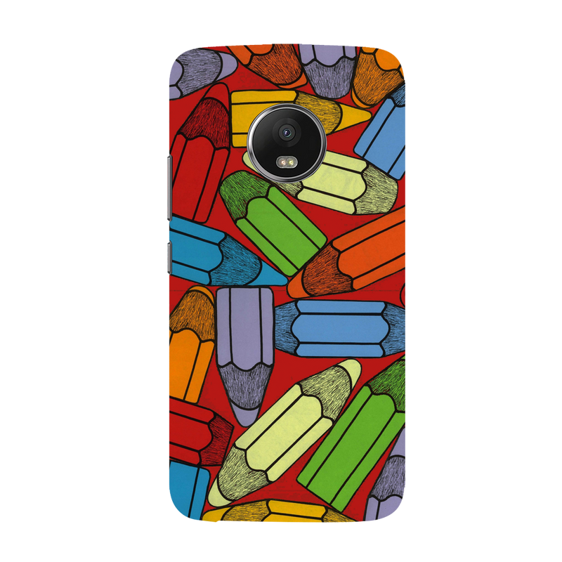 Pencil Moto G5 plus Mobile Cover