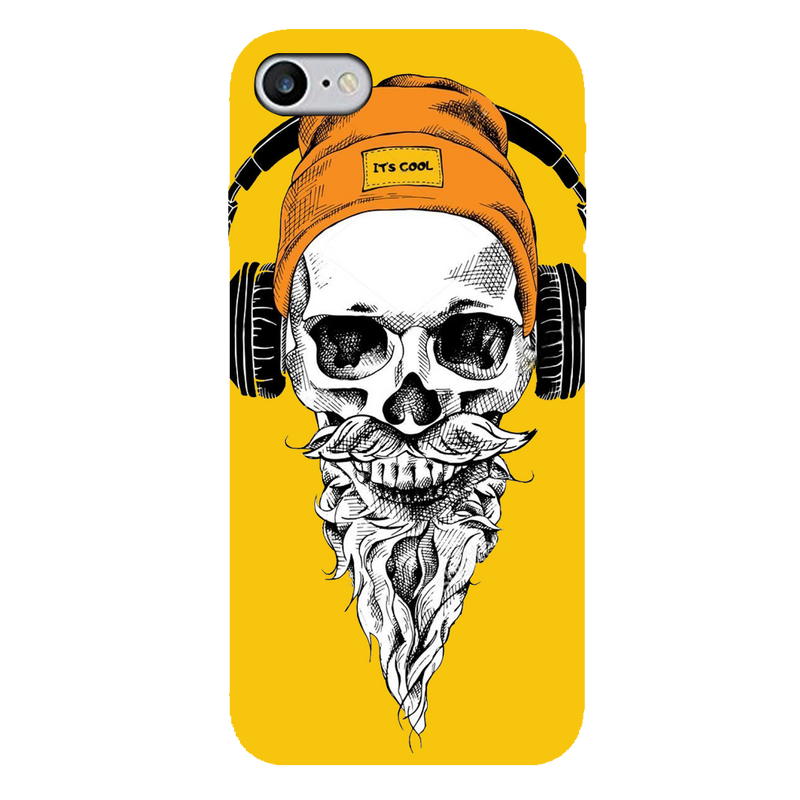 Skull with headphone  iPhone 7 Mobile Cover