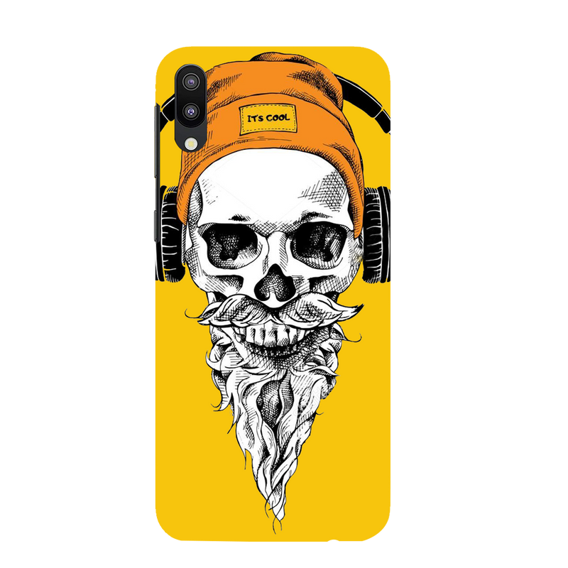 Skull with headphone Samsung M 10 Mobile Cover