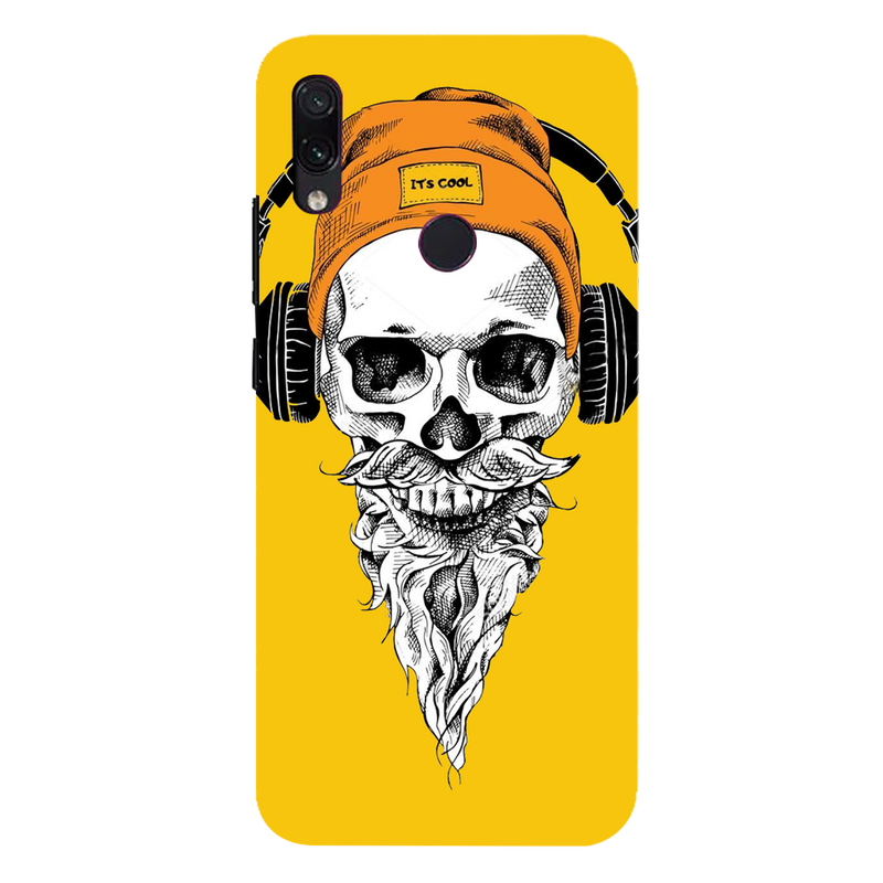 Skull with headphone Redmi 7 Mobile Cover