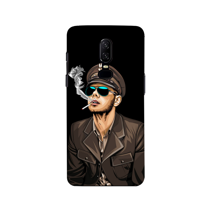 Smoking man OnePlus 6 Mobile Cover