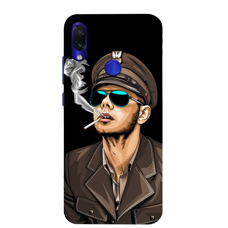 Smoking man Redmi Note 7 Mobile Cover