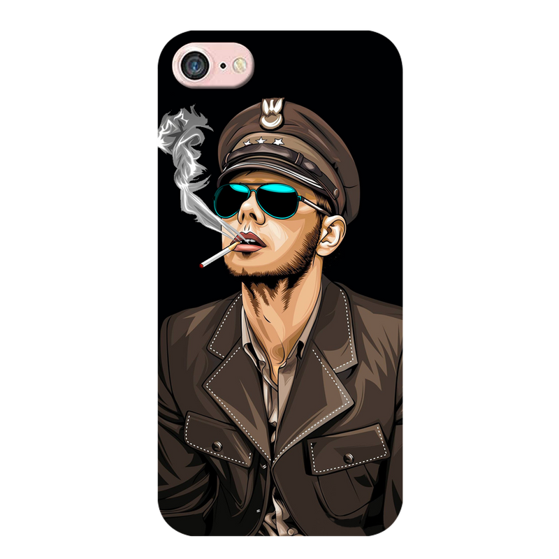 Smoking man Apple iPhone 8 Mobile Cover