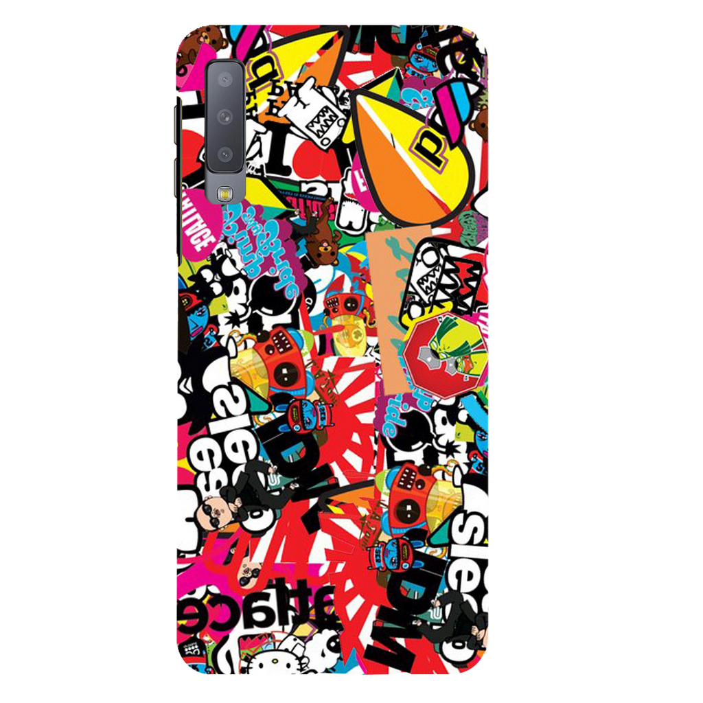 Style Sticker Pattern Samsung A7 Mobile Cover