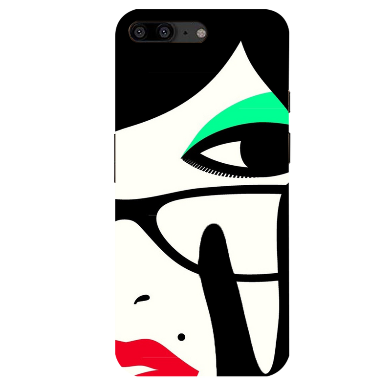 Vector face OnePlus 5 Mobile Cover