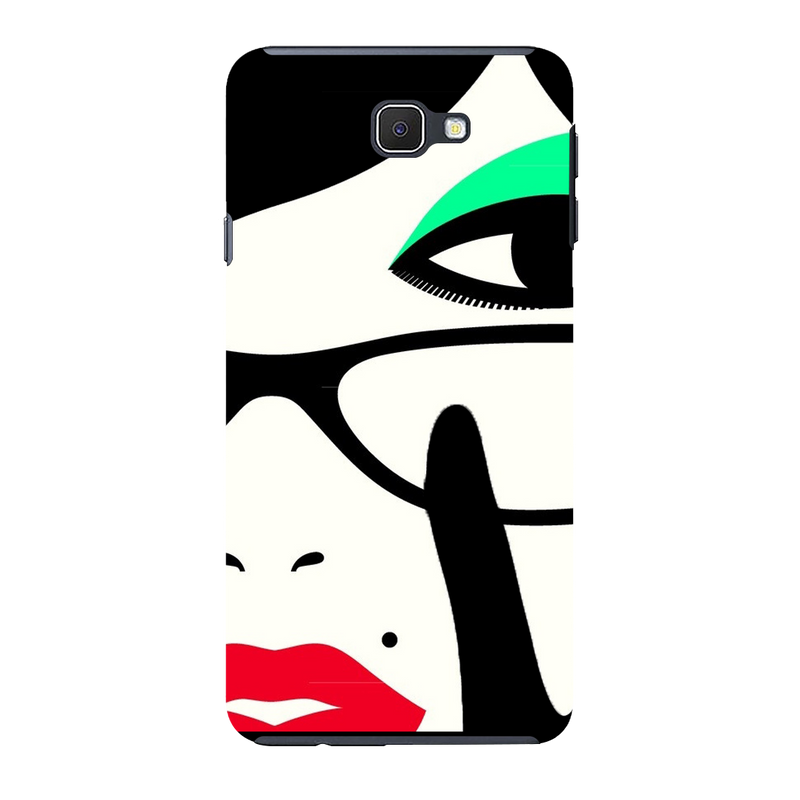 Vector face Samsung J7 Mobile Cover