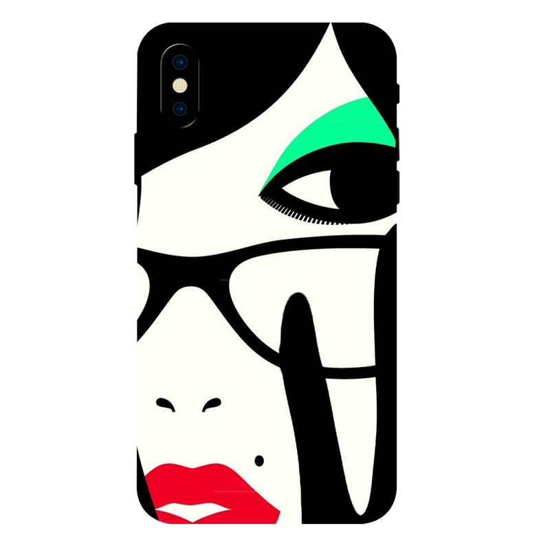 Vector girl Apple iPhone XS Max Mobile Cover