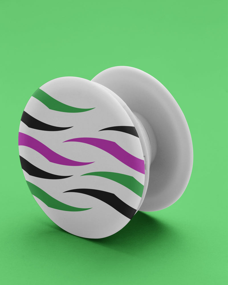 Zebra colorful texture PopSockets Grip
