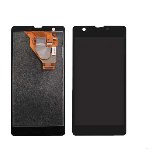 Mms LCD Touch Screen for Sony Xperia ZR - (Display Glass Combo Folder)