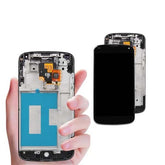 Mms LCD Touch Screen for LG Nexus 4 - (Display Glass Combo Folder)