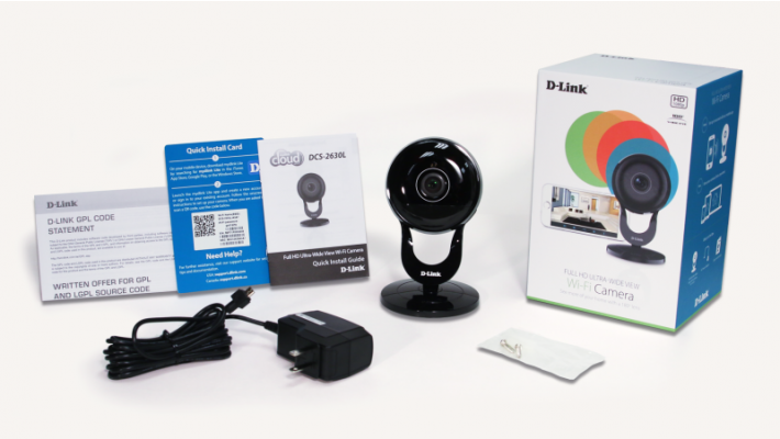 D-Link DCS-2630L Full HD Ultra-Wide View Wi-Fi Camera