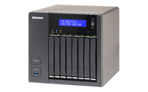 QNAP 8Bay NAS Quad core Intel Celeron 2.0GHz 4Gb RAM