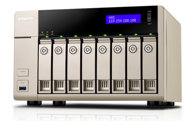 QNAP TVS 8Bay NAS Quad core AMD 2.4GHz 4Gb RAM