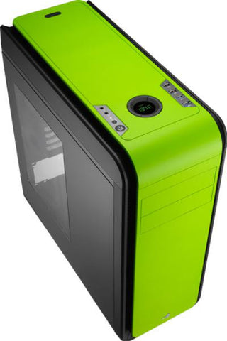 Aerocool MT Mid Tower Gaming Case, DS 200, ATX/mATX Green with Window