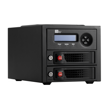 CRU RTX220-3QJ - Portable 2Bay RAID Storage Enclosure