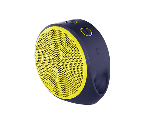 Logitech X100 Mobile Speaker - Purple / Yellow