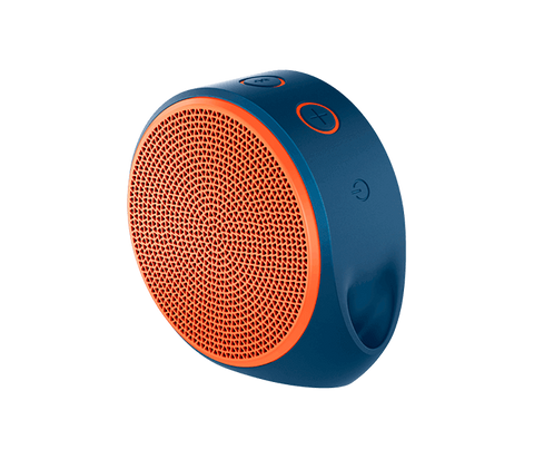 Logitech X100 Mobile Speaker - Blue / Orange