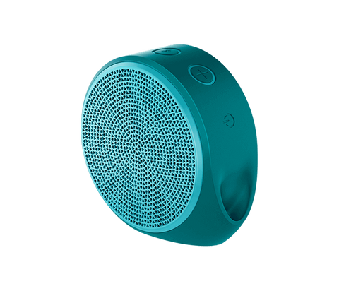 Logitech X100 Mobile Speaker - Cyan / Green