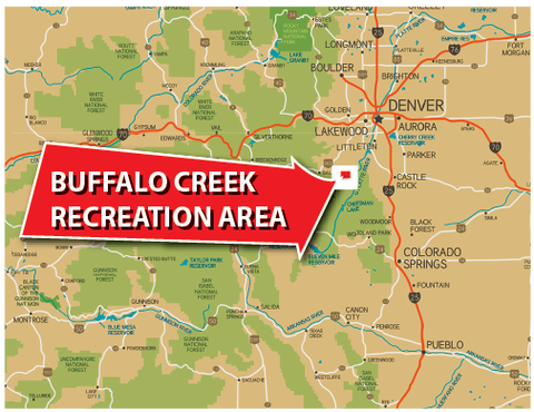 Buffalo Creek Recreation Area - Location Map