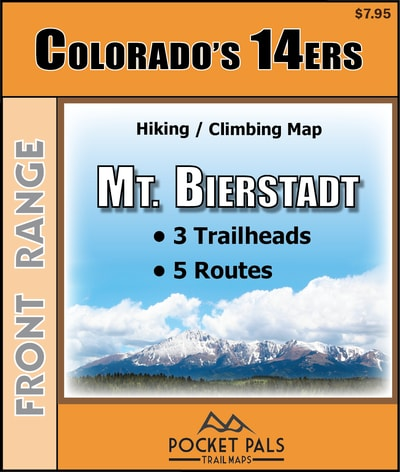 Mt. Bierstadt Trail Map, a Colorado Fourteener