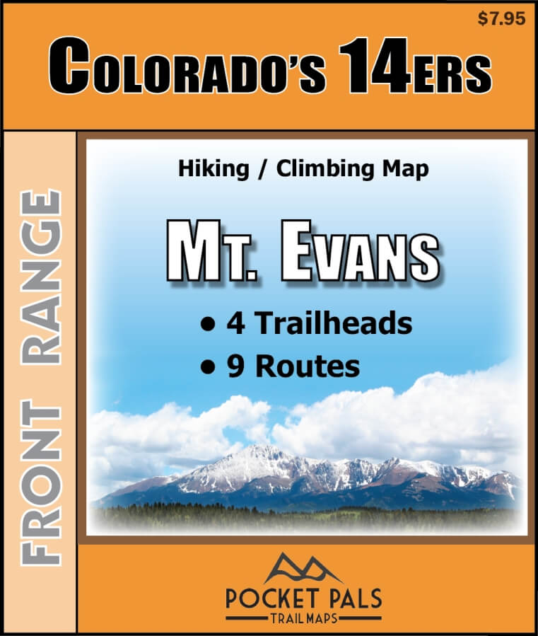 Mt. Evans Climbing Map, Colorado 14er, Front Range