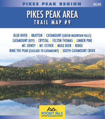 Pocket Pals Trail Map #9, Pikes Peak Region series