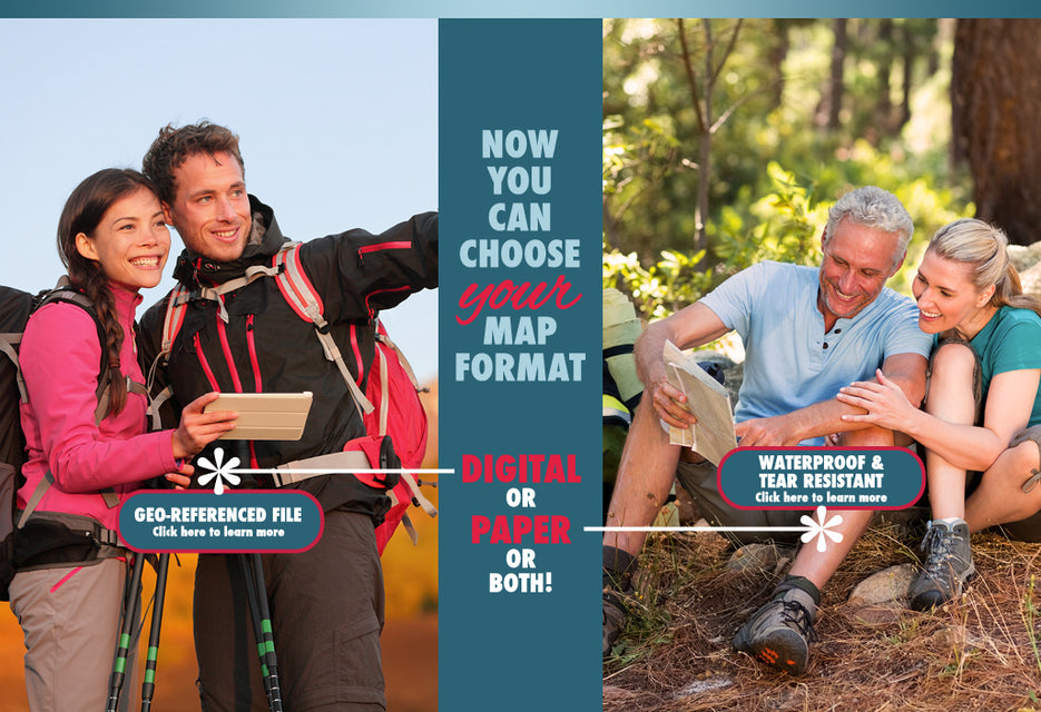 Pocket Pals Trail Maps offers both paper and digital map products - PP Trail Maps
