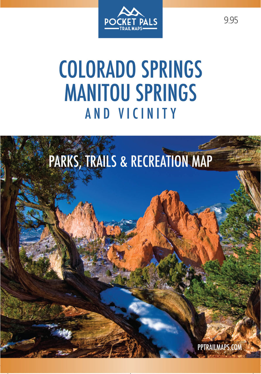 Colorado Springs & Manitou Springs: Parks, Trails and Recreation Map