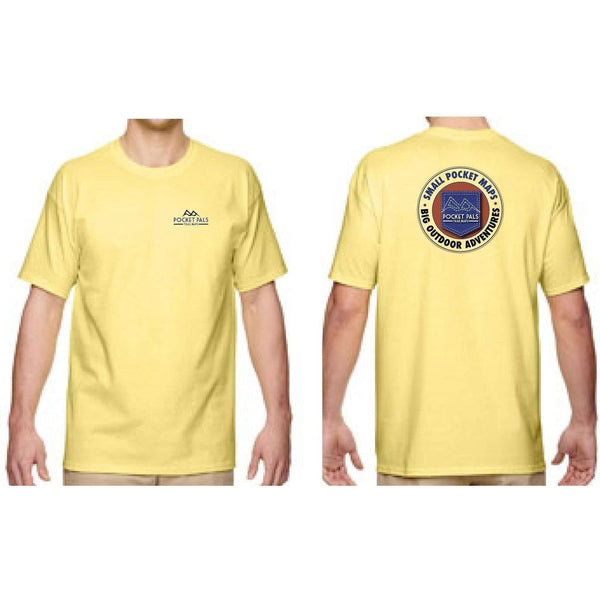 Mens Pocket Pals Trail Maps tee shirt