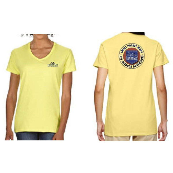 Women's tee shirt, with Pocket Pals Trail Map logo