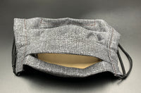Grey Subtle Print Unisex Cotton Face Mask with Filter Pocket (Adult Size)