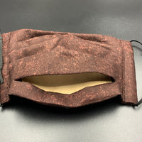 Brown Earth Tones Unisex Cotton Face Mask with Filter Pocket (Adult Size)
