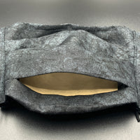 Black Grey Stone Subtle Print Face Mask with Filter Pocket (Adult Size)