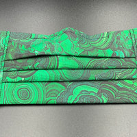 Malachite Crystal Print Cotton Face Mask with Filter Pocket (Adult Size)
